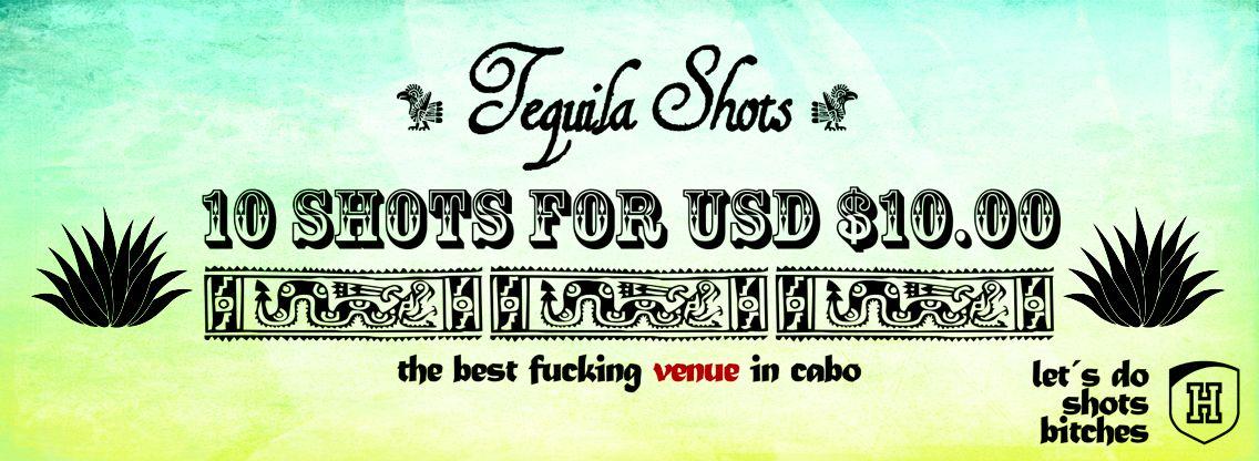 10 shots de Tequila por 10dls