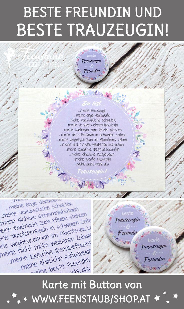Willst Du Meine Trauzeugin Sein Karte Mit Button Feenstaub At Shop Trauzeugin Trauzeugin Und Brautjungfern Trauzeugin Beste Freundin
