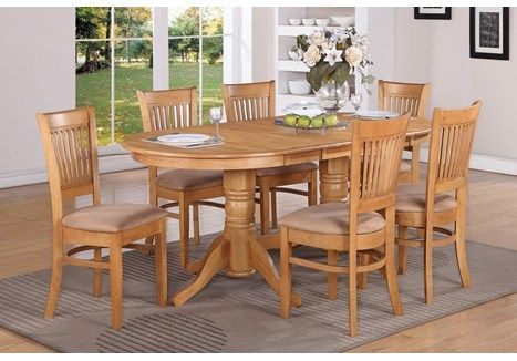 Simply Casual Vancouver Oval Double Pedestal Dining Table Set Oval Dining Room Table Dining Table In Kitchen Oak Dining Table