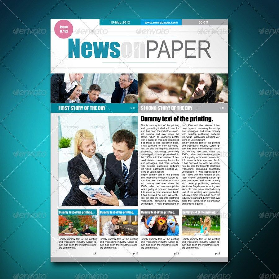20 Best Magazine Templates Psd Indesign: 55+ Best Newspaper Templates In InDesign And PSD Formats