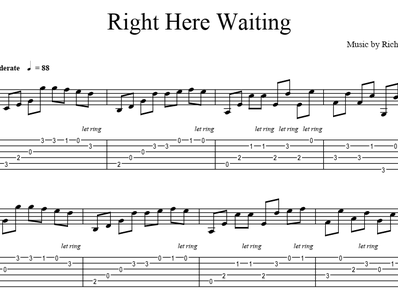 Sheet Music Tabs For Guitar Right Here Waiting Richard Marx Right Here Waiting Sheet Music Guitar Sheet Music
