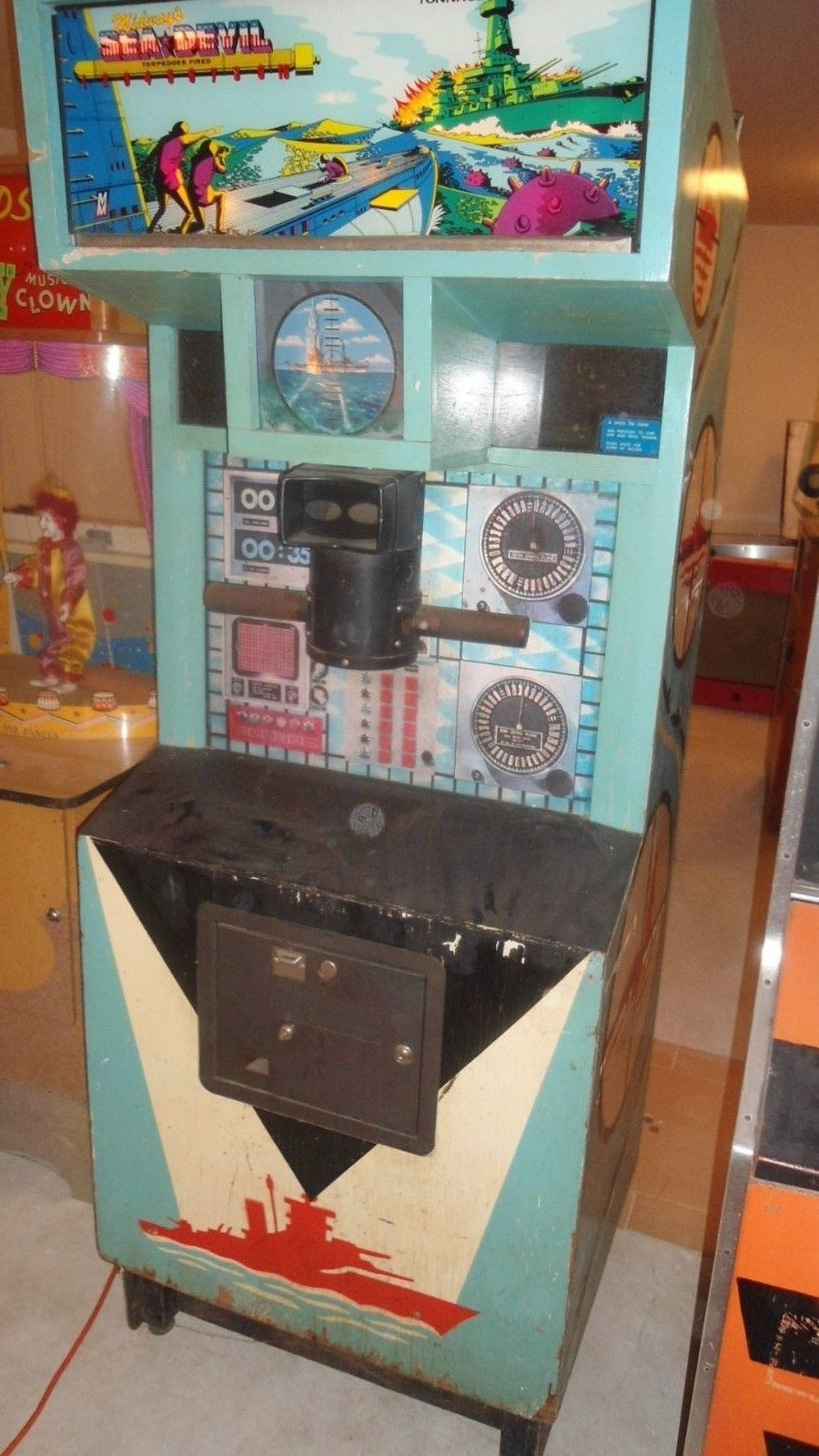 Midway S Sea Devil Coin Op Operated Arcade Game Picclick