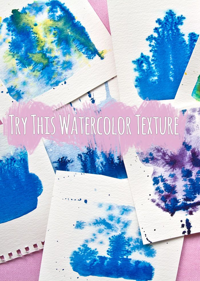 Video Try This Watercolor Painting Texture Technique Kim Dellow