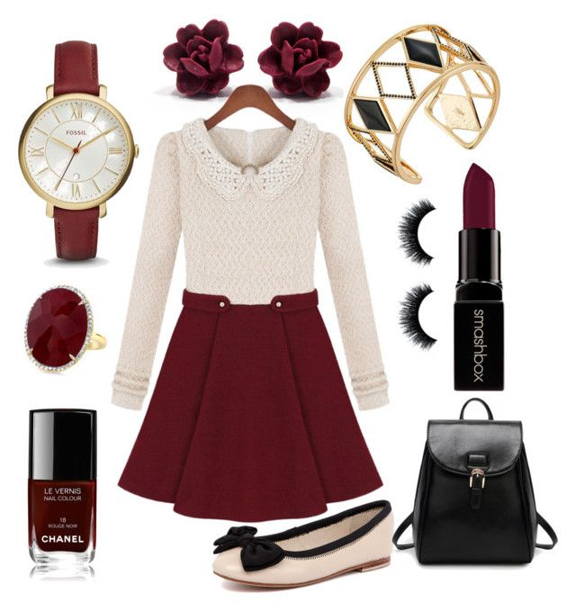 """""""Winter Simplicity"""" by amandajane027 on Polyvore featuring Rebecca Minkoff, FOSSIL, Human Premium, Smashbox, Chanel, women's clothing, women's fashion, women, female and woman"""