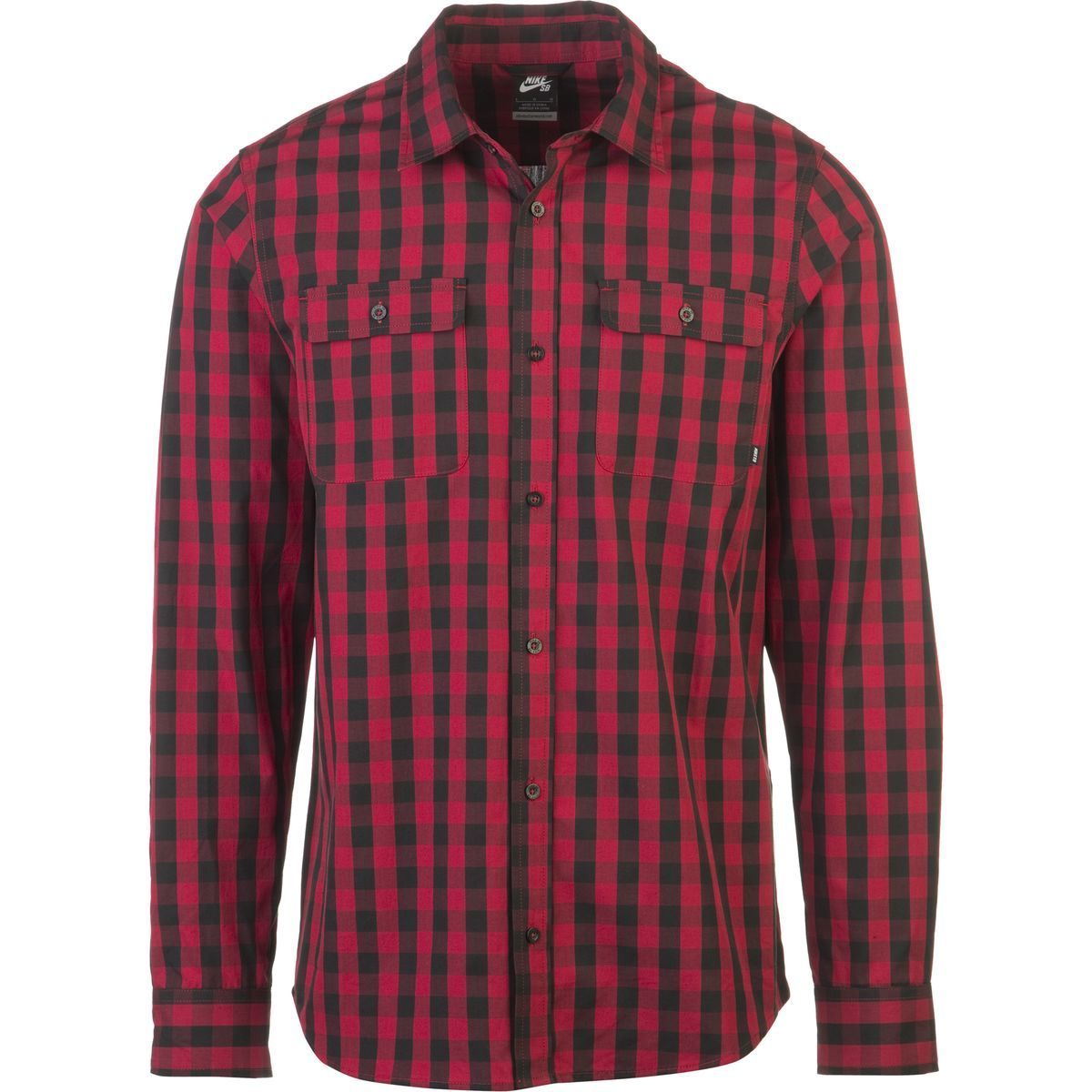 fantastic savings newest collection great deals 2017 Nike - SB Buffalo Check Shirt - Long-Sleeve - Men's - Black ...