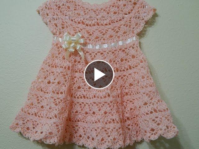 04e2c418887b Vestido ,0-3 meses (Linha Clea 5 agulha 1,75)   só bebê   Crochet baby,  Crochet baby clothes e Crochet girls