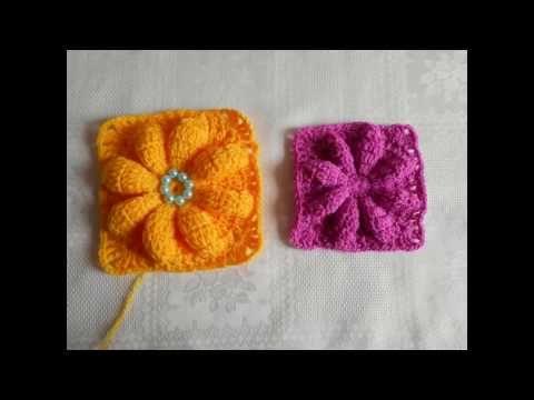 Flor En Relieve Facil Y Rapido Paso A Paso Crochet Youtube