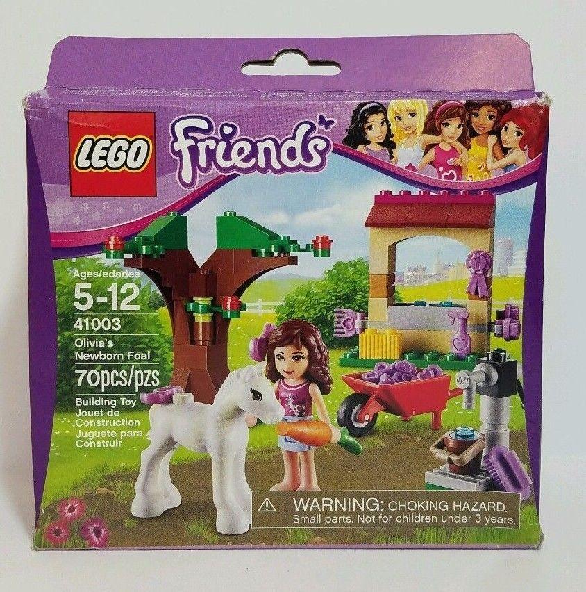 Lego Friends New Olivia Newborn Foal Horse 41003 Factory Sealed