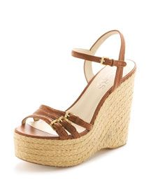 such a cute summer wedge from michael kors, love that the straps aren't too chunky.