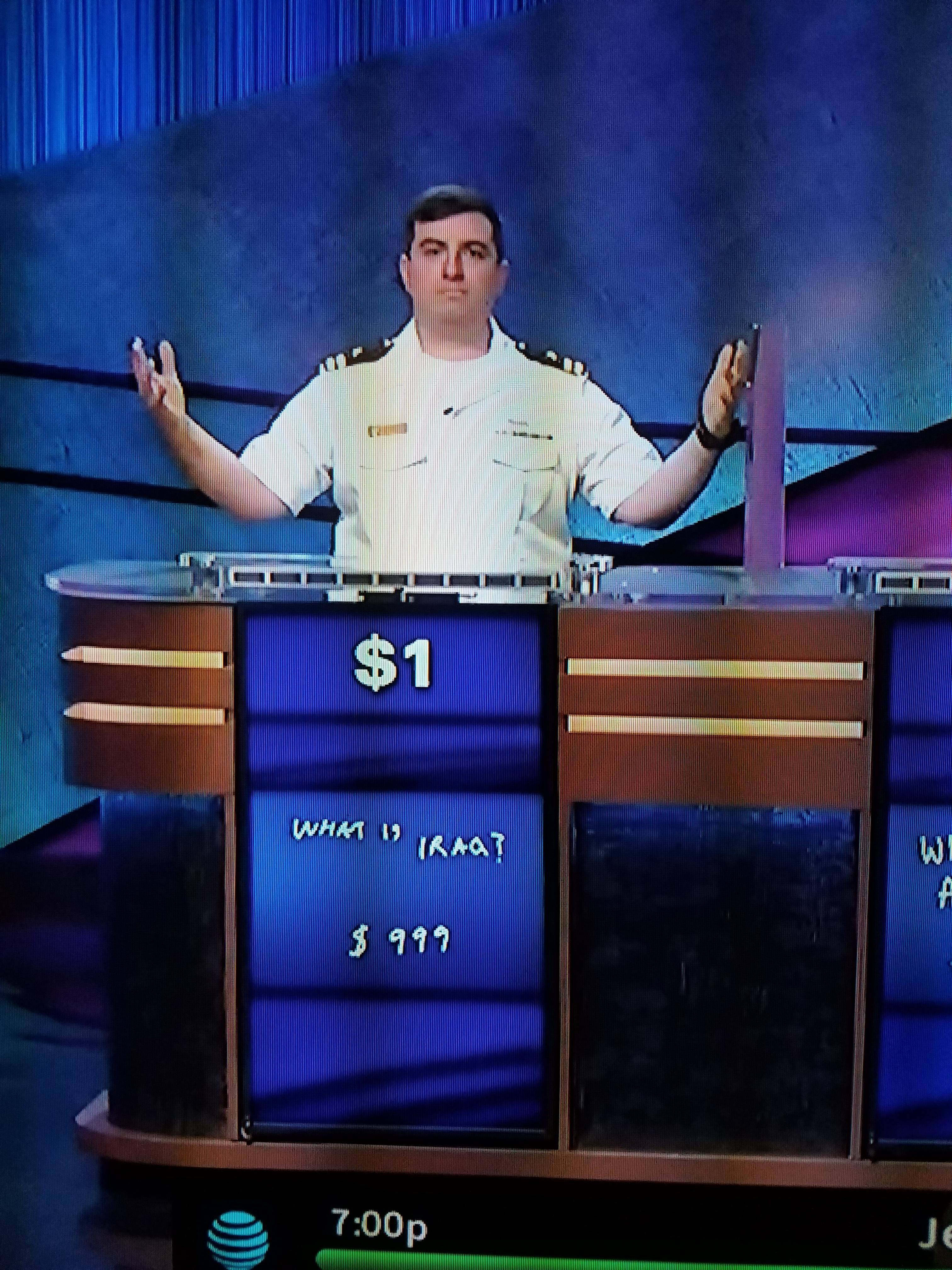 The face of a man who had a score of $1 and still won Jeopardy | Super Funny Awesome Memes