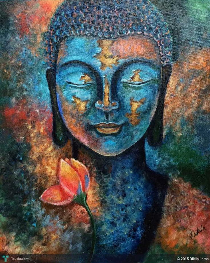 Lord buddha painting 825 1031 for Buddha mural paintings