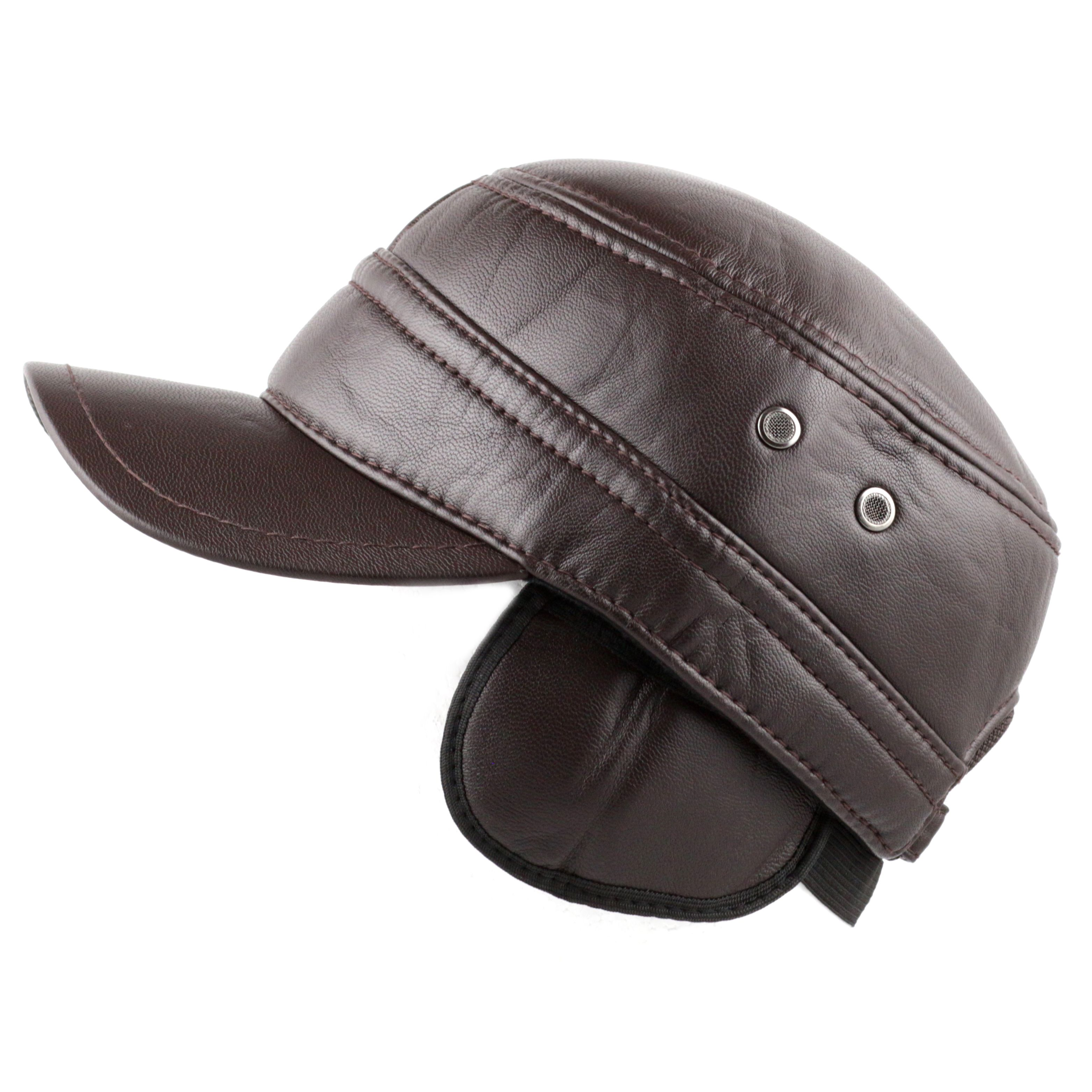 604b857f64328e Faux Leather Cadet Cap with Hidden Ear Flaps | Hats, Bags and Purses ...