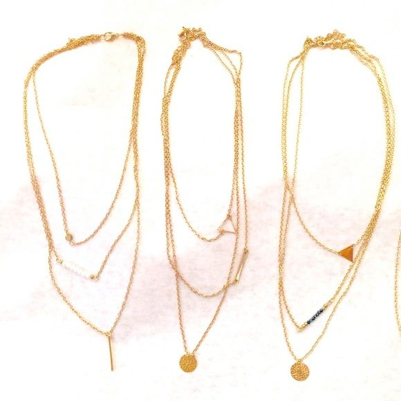 @Hismrs Take a look at these. Sorry the pics aren't great. This is what I have left for layered necklaces. Let me know if you like either of these. Thank you  Boutique Jewelry Necklaces
