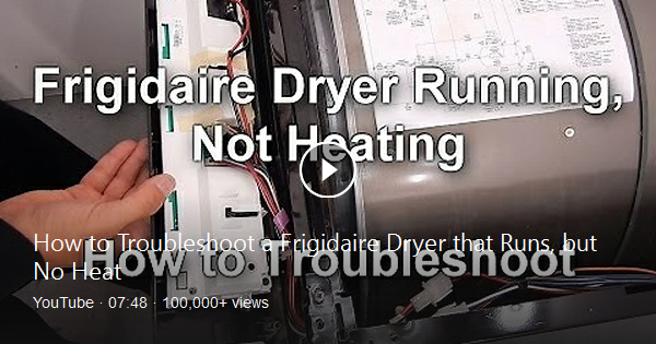 In This Video I Show You How To Troubleshoot A Frigidaire Dryer That Runs But Does Not Heat Up First I Go Through The Wiring Dia Frigidaire Dryer Dryer Repair