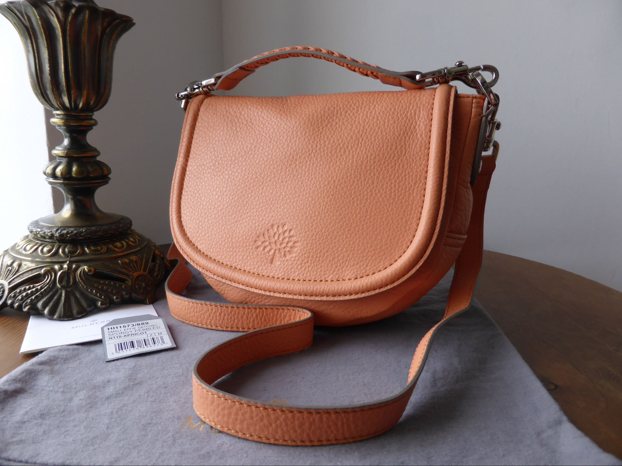 4bbef49e50fd Mulberry Small Effie Satchel in Apricot Spongy Pebbled Leather ...