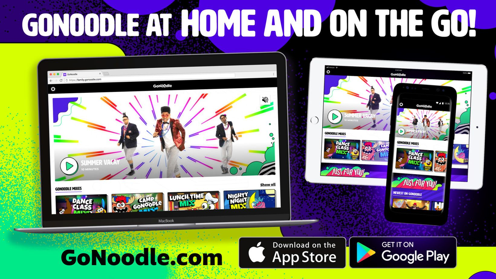 GoNoodle at Home and on the Go! Download are iOS and