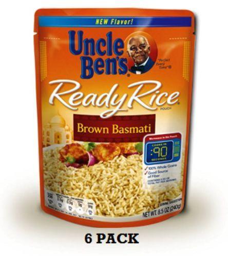 PACK-OF-6-UNCLE-BENS-READY-RICE-BROWN-BASMATI-MICROWAVE-PREPPER-EMERGENCY-FOOD