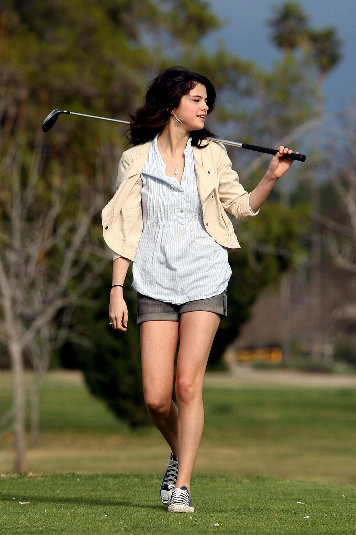 Out golfing with Nick Jonas | Los Angeles | February 21 2010