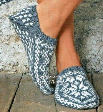Вязание спицами носки и узоры для них