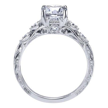 Platinum Diamond Straight Engagement Ring | Gabriel & Co NY | ER10044PT3JJ