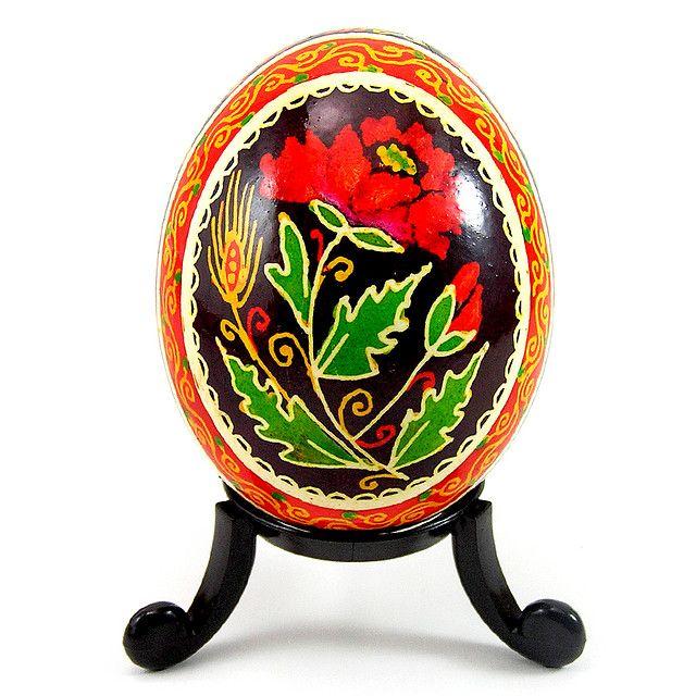 poppy Ukrainian Easter egg