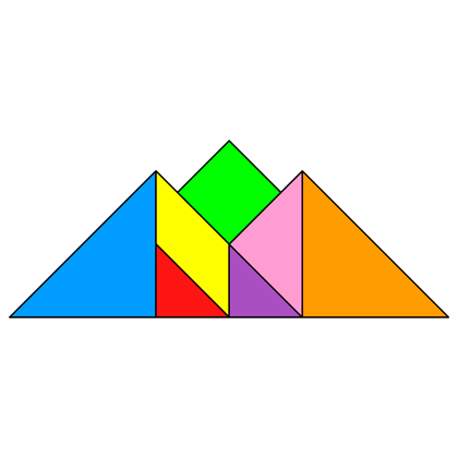 tangram mountains tangram solution 146 providing teachers and pupils with tangram puzzle activities