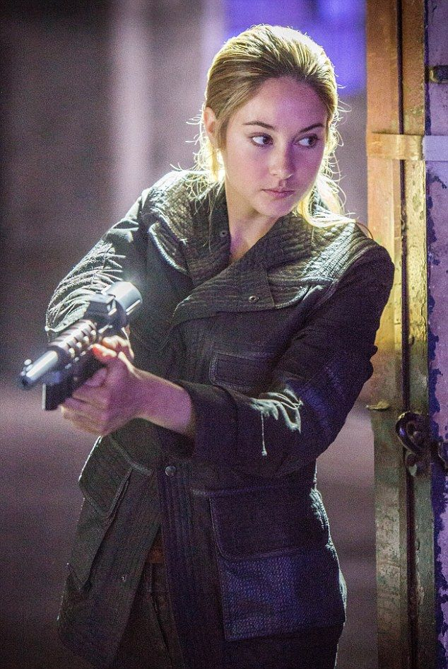 Leading lady: Shailene has become a household name over the last year thanks to a series o...