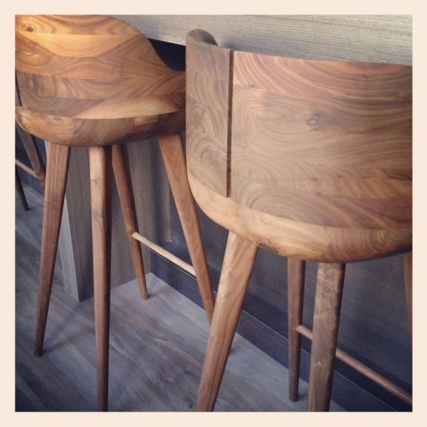 Meredith Heron Design Amazing Barstools Solid Wood Furniture