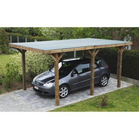 carport bois enzo 1 voiture m carport in 2018 pinterest carport plans carport. Black Bedroom Furniture Sets. Home Design Ideas