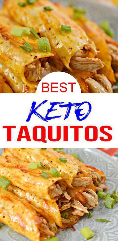 Keto Wraps! EASY chicken taquitos recipes w/ few ...