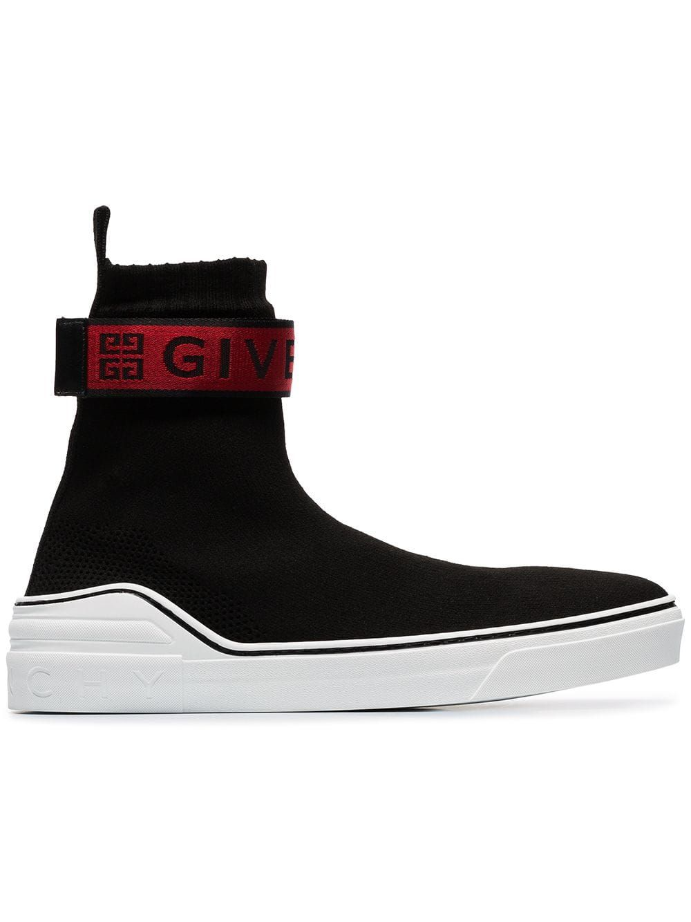 GIVENCHY GIVENCHY BLACK, RED AND WHITE 4G WEBBING KNITTED