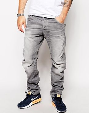 G Star Jeans New Riley 3d Loose Tapered Grey Light Aged
