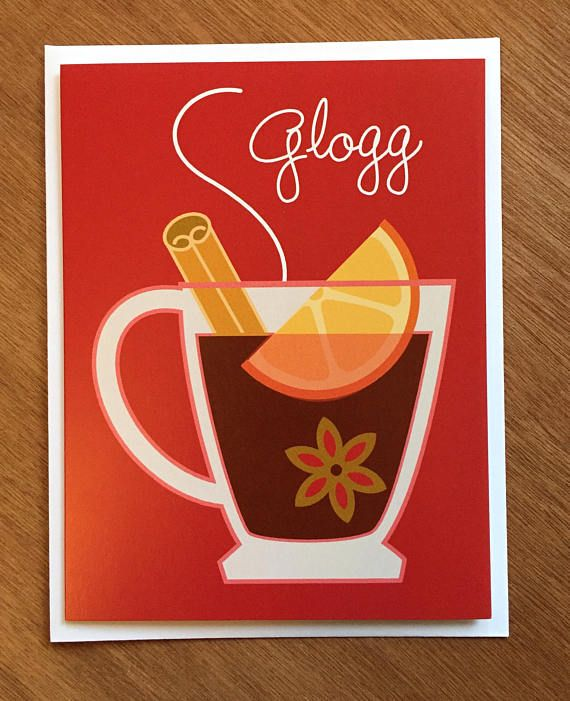 Glogg Card, Hot Mulled Wine Drink
