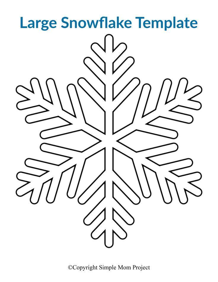 8 Free Printable Large Snowflake Templates Snowflake Template Snowflake Coloring Pages Simple Snowflake
