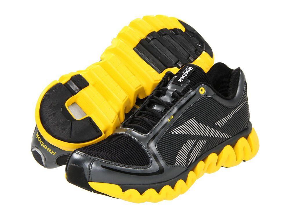 Womens Reebok ZigLite Run J92473 Gravel Black Yellow 100% Original Brand New