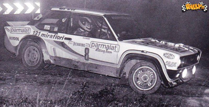 Fiat 131 Mirafiori Rally Di San Martino Di Castrozza Vudafieri