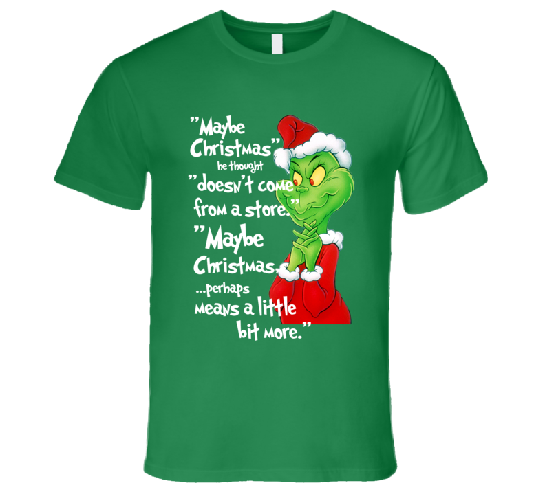 68f9bc2214a How The Grinch Stole Christmas Classic Cartoon Graphic T-Shirt ...