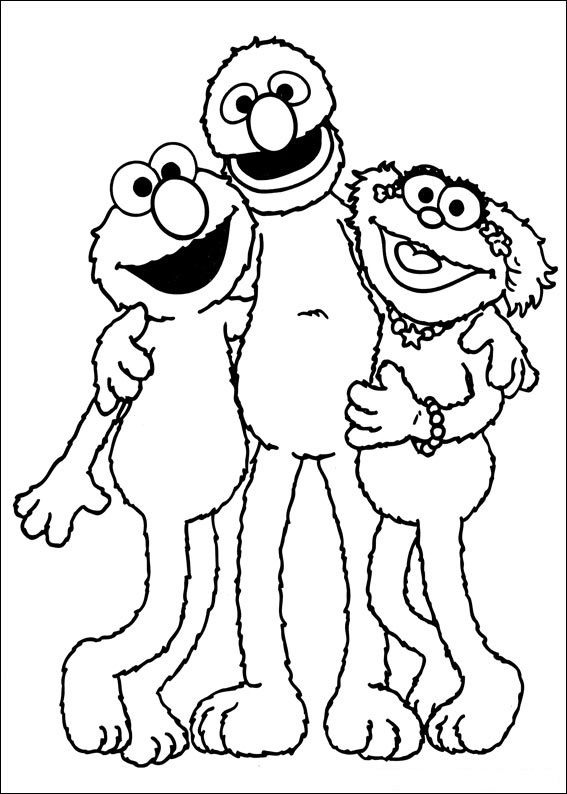 Elmo grover zoe sesame street pinterest elmo and craft for Grover sesame street coloring pages
