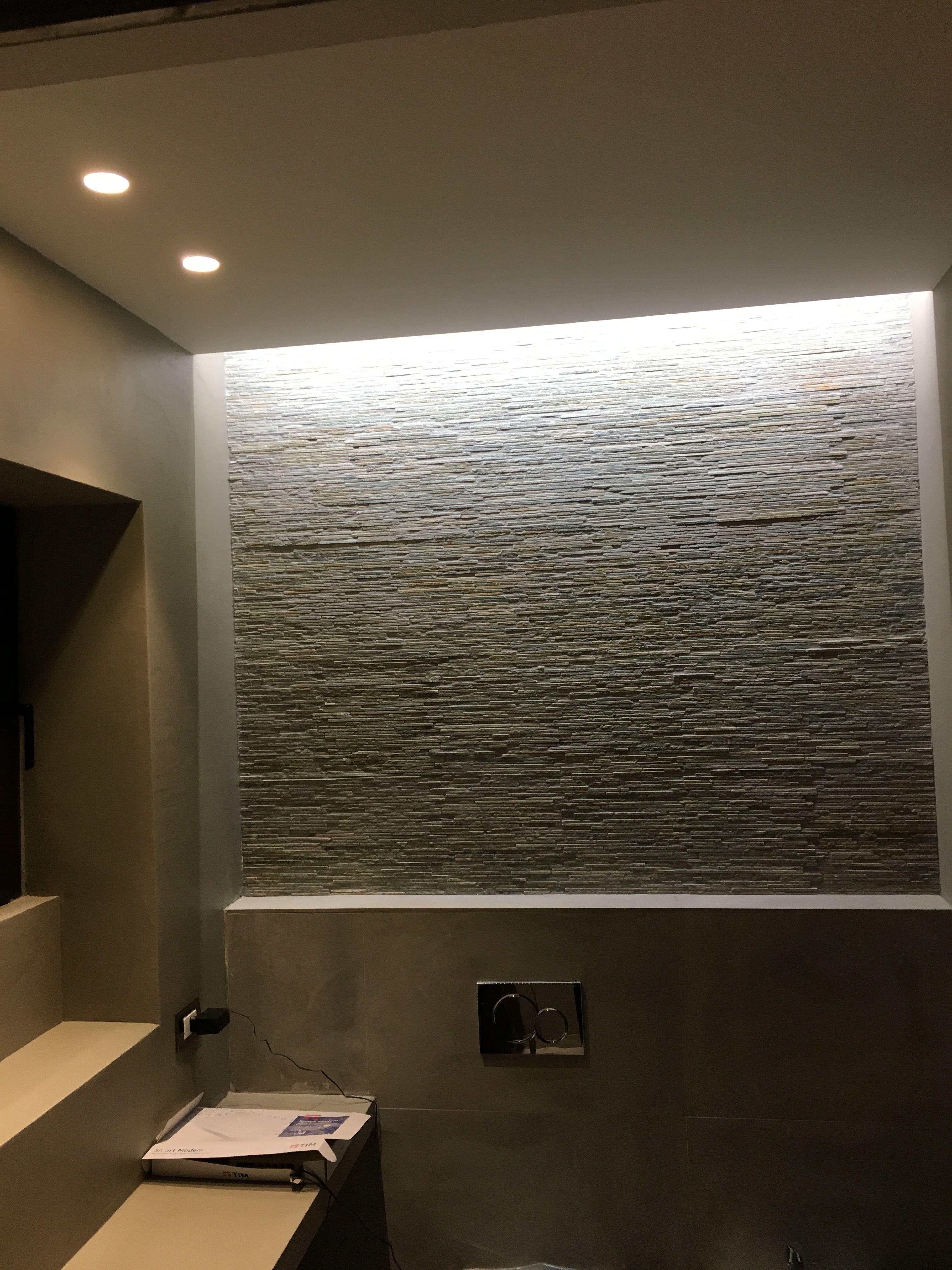 Illuminazione radente parete pietra pareti in pietra - Parete interna in pietra ...