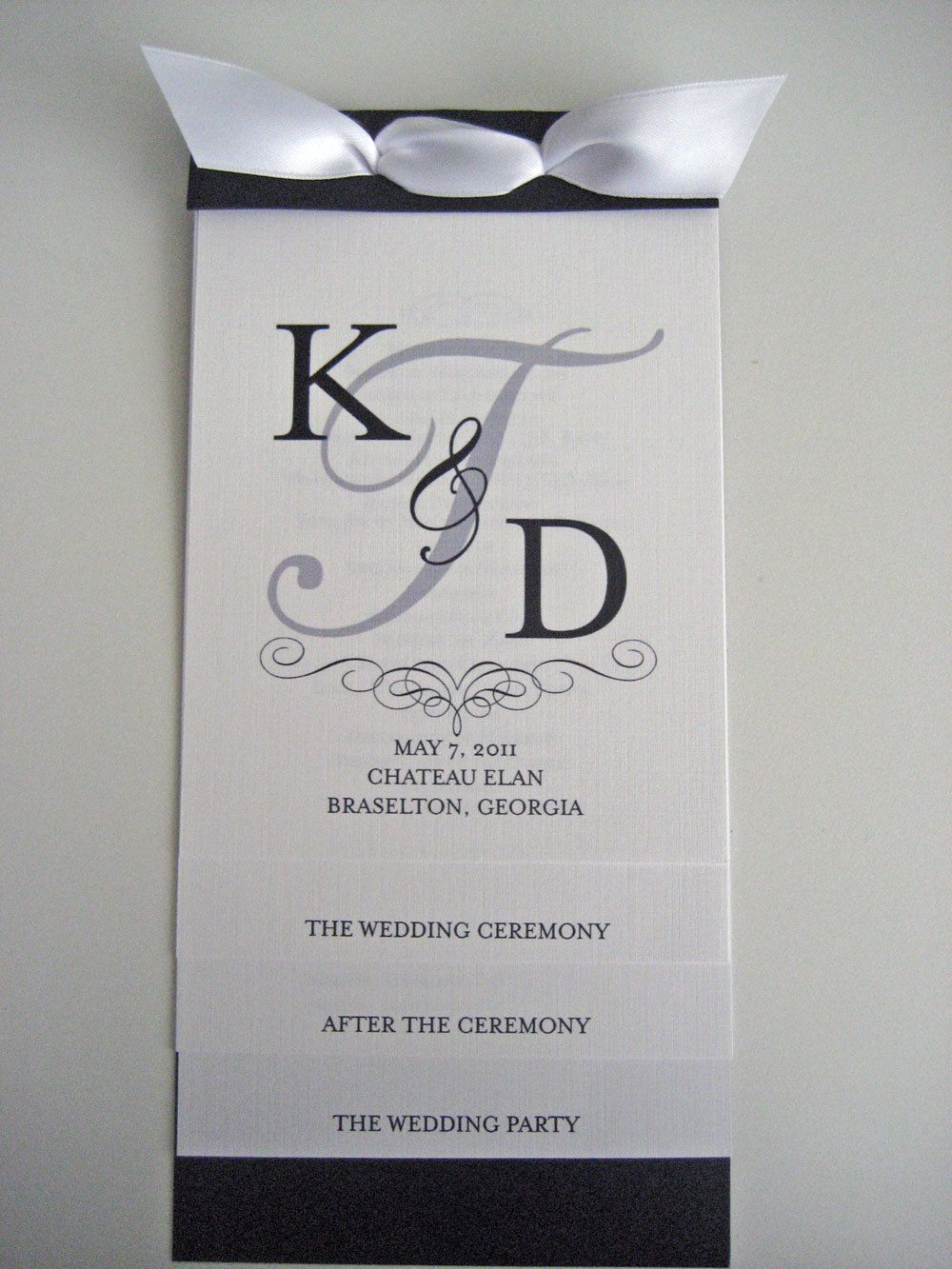 layered wedding program like the front page design wedding