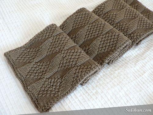 Asherton Reversible Scarf | Yarn-a-holic | Knitting stitches