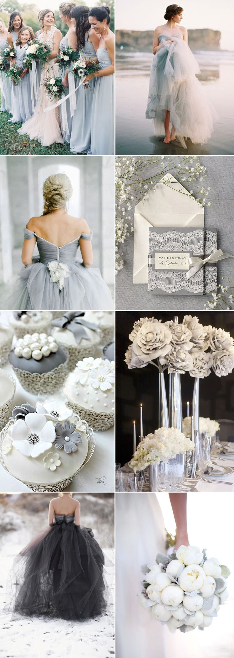 Fifty Shades of Grey For A Classy Wedding Day | Pinterest | Fifty ...