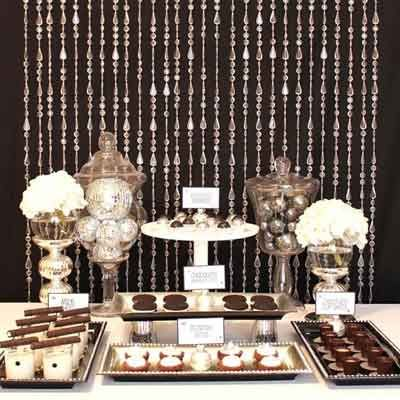 Bead Curtain Dessert Buffet Table Backdrop 70 Th Party