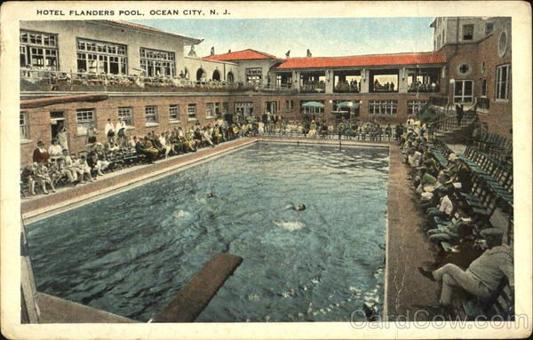 Hotel Flanders Pool Ocean City New Jersey This Is A Land Mark To The