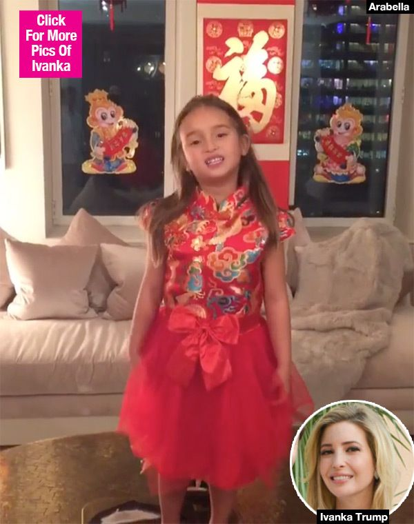 Ivanka Trump's Daughter Arabella, 4, Sings In Mandarin For Chinese New Year —Watch