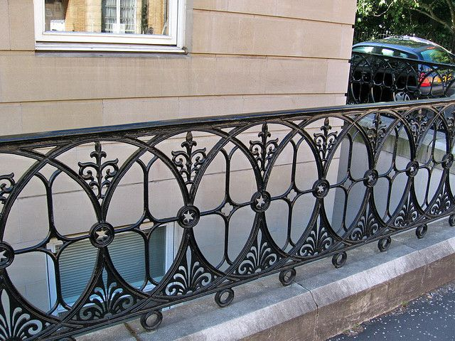 Victorian Style Iron Railing Glasgow Scotland Iron Railings Outdoor Iron Railing Iron Balcony Railing