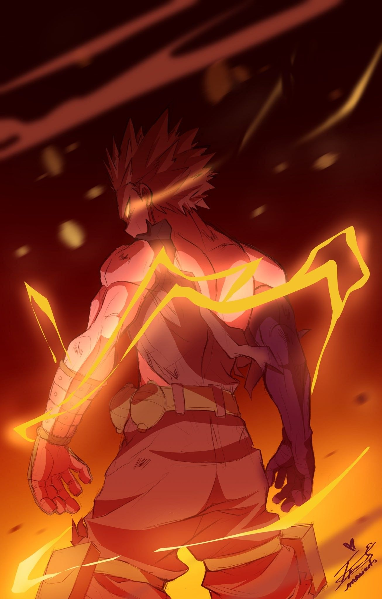 Katsuki Bakugou One For All In 2020 Hero Wallpaper Cool Anime Wallpapers Anime Wallpaper