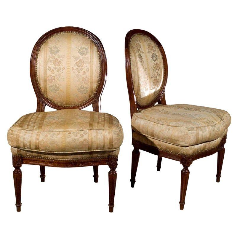 Boudoir Fabulous 50: Jansen Louis XVI Boudoir Chairs - Pair
