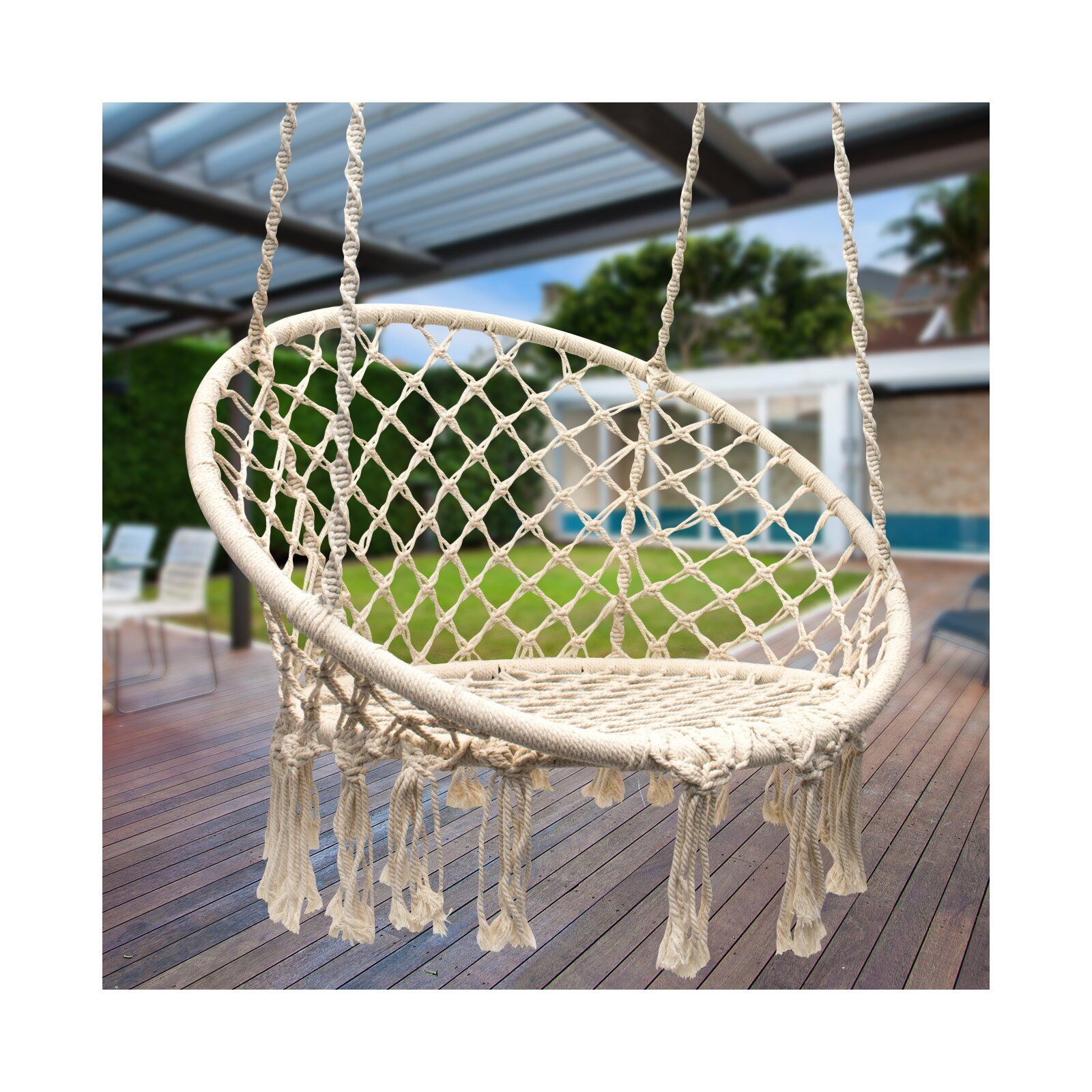 Cottle Hanging Rope Swing Chair With Images Macrame Hanging
