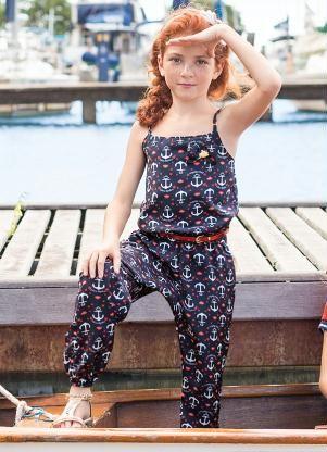 c9e8665ad Macacão Azul Lilica Ripilica - Posthaus | Moda que usaria Kids ...